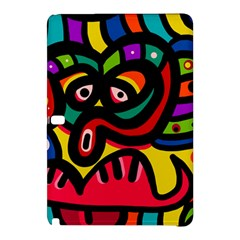 A Seamless Crazy Face Doodle Pattern Samsung Galaxy Tab Pro 10 1 Hardshell Case by Amaryn4rt