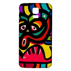 A Seamless Crazy Face Doodle Pattern Samsung Galaxy S5 Back Case (white) by Amaryn4rt