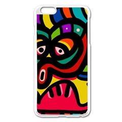 A Seamless Crazy Face Doodle Pattern Apple Iphone 6 Plus/6s Plus Enamel White Case by Amaryn4rt