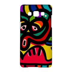A Seamless Crazy Face Doodle Pattern Samsung Galaxy A5 Hardshell Case  by Amaryn4rt