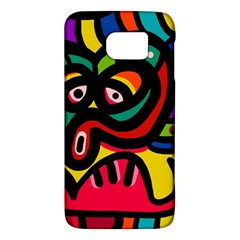 A Seamless Crazy Face Doodle Pattern Galaxy S6 by Amaryn4rt