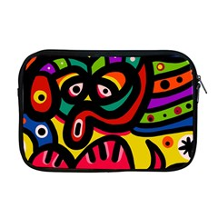 A Seamless Crazy Face Doodle Pattern Apple Macbook Pro 17  Zipper Case by Amaryn4rt