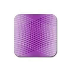 Abstract Lines Background Rubber Square Coaster (4 Pack)  by Amaryn4rt