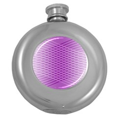 Abstract Lines Background Round Hip Flask (5 Oz) by Amaryn4rt