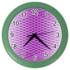 Abstract Lines Background Color Wall Clocks