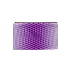 Abstract Lines Background Cosmetic Bag (small)  by Amaryn4rt