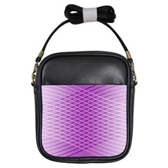 Abstract Lines Background Girls Sling Bags by Amaryn4rt