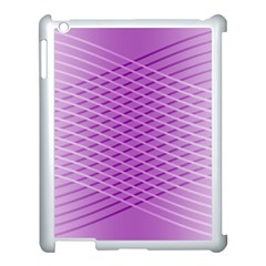 Abstract Lines Background Apple Ipad 3/4 Case (white) by Amaryn4rt