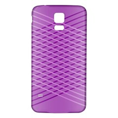 Abstract Lines Background Samsung Galaxy S5 Back Case (white) by Amaryn4rt