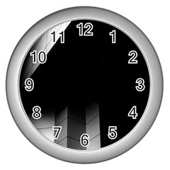 Wall White Black Abstract Wall Clocks (silver)  by Amaryn4rt