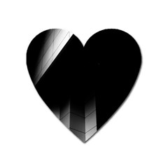 Wall White Black Abstract Heart Magnet by Amaryn4rt