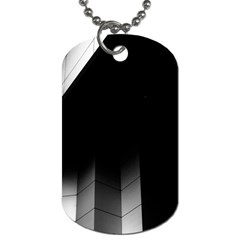 Wall White Black Abstract Dog Tag (two Sides) by Amaryn4rt