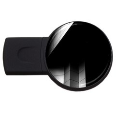 Wall White Black Abstract Usb Flash Drive Round (2 Gb) by Amaryn4rt
