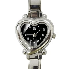 Wall White Black Abstract Heart Italian Charm Watch by Amaryn4rt