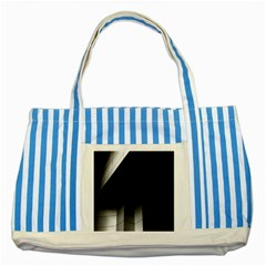 Wall White Black Abstract Striped Blue Tote Bag by Amaryn4rt