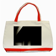 Wall White Black Abstract Classic Tote Bag (red) by Amaryn4rt