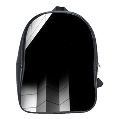 Wall White Black Abstract School Bags(large)  by Amaryn4rt