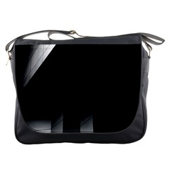 Wall White Black Abstract Messenger Bags by Amaryn4rt