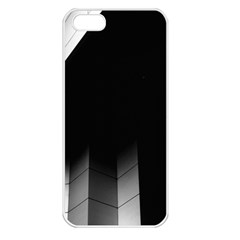 Wall White Black Abstract Apple Iphone 5 Seamless Case (white) by Amaryn4rt