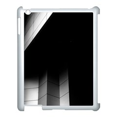 Wall White Black Abstract Apple Ipad 3/4 Case (white) by Amaryn4rt