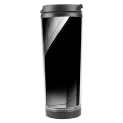 Wall White Black Abstract Travel Tumbler by Amaryn4rt