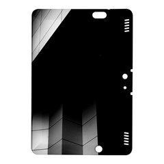 Wall White Black Abstract Kindle Fire Hdx 8 9  Hardshell Case by Amaryn4rt