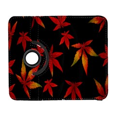 Colorful Autumn Leaves On Black Background Galaxy S3 (flip/folio) by Amaryn4rt