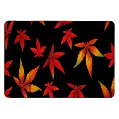 Colorful Autumn Leaves On Black Background Samsung Galaxy Tab 8 9  P7300 Flip Case by Amaryn4rt