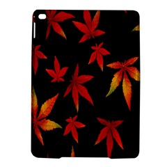 Colorful Autumn Leaves On Black Background Ipad Air 2 Hardshell Cases by Amaryn4rt