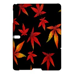 Colorful Autumn Leaves On Black Background Samsung Galaxy Tab S (10 5 ) Hardshell Case  by Amaryn4rt