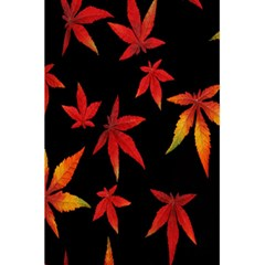 Colorful Autumn Leaves On Black Background 5 5  X 8 5  Notebooks by Amaryn4rt