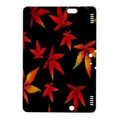 Colorful Autumn Leaves On Black Background Kindle Fire Hdx 8 9  Hardshell Case by Amaryn4rt