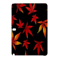 Colorful Autumn Leaves On Black Background Samsung Galaxy Tab Pro 10 1 Hardshell Case by Amaryn4rt