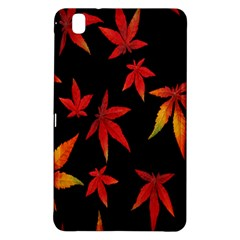 Colorful Autumn Leaves On Black Background Samsung Galaxy Tab Pro 8 4 Hardshell Case by Amaryn4rt