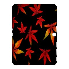 Colorful Autumn Leaves On Black Background Samsung Galaxy Tab 4 (10 1 ) Hardshell Case  by Amaryn4rt