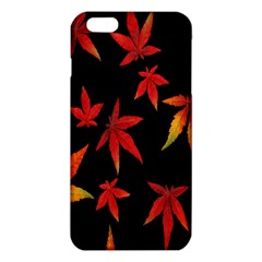 Colorful Autumn Leaves On Black Background Iphone 6 Plus/6s Plus Tpu Case by Amaryn4rt