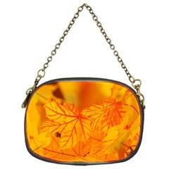 Bright Yellow Autumn Leaves Chain Purses (two Sides)  by Amaryn4rt