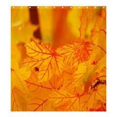 Bright Yellow Autumn Leaves Shower Curtain 66  X 72  (large)  by Amaryn4rt