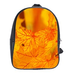 Bright Yellow Autumn Leaves School Bags(large)  by Amaryn4rt