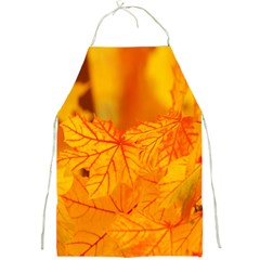 Bright Yellow Autumn Leaves Full Print Aprons by Amaryn4rt