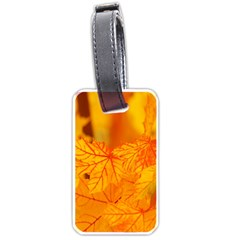 Bright Yellow Autumn Leaves Luggage Tags (one Side)  by Amaryn4rt