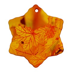 Bright Yellow Autumn Leaves Ornament (snowflake) by Amaryn4rt