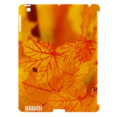 Bright Yellow Autumn Leaves Apple Ipad 3/4 Hardshell Case (compatible With Smart Cover) by Amaryn4rt