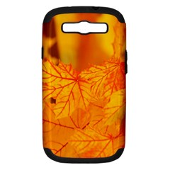 Bright Yellow Autumn Leaves Samsung Galaxy S Iii Hardshell Case (pc+silicone)