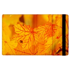 Bright Yellow Autumn Leaves Apple Ipad 2 Flip Case by Amaryn4rt