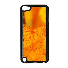 Bright Yellow Autumn Leaves Apple Ipod Touch 5 Case (black) by Amaryn4rt