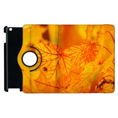 Bright Yellow Autumn Leaves Apple Ipad 3/4 Flip 360 Case by Amaryn4rt