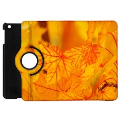 Bright Yellow Autumn Leaves Apple Ipad Mini Flip 360 Case by Amaryn4rt