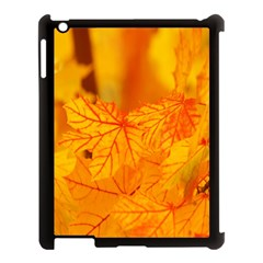 Bright Yellow Autumn Leaves Apple Ipad 3/4 Case (black) by Amaryn4rt