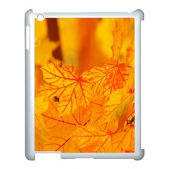 Bright Yellow Autumn Leaves Apple Ipad 3/4 Case (white) by Amaryn4rt